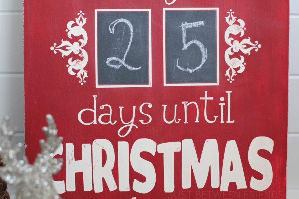 Countdown To Christmas Sign.Christmas Countdown Sign Just Jonie
