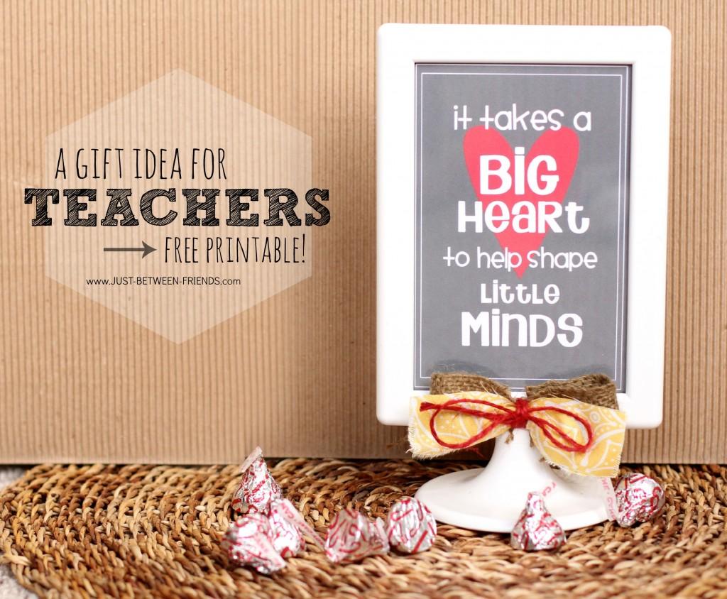 Teacher Gifts | Free Printable - Just Jonie