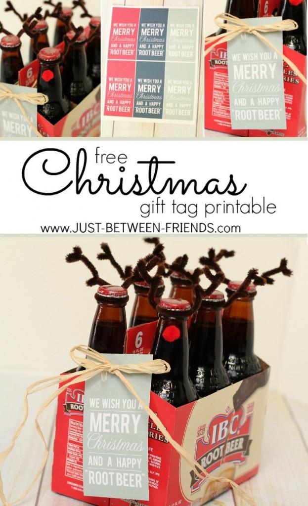 Beer Christmas Gifts.Neighbor Gifts Happy Root Beer Printable Just Jonie