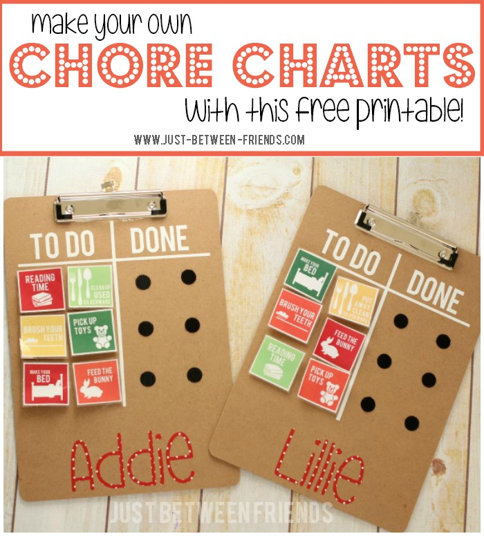 DIY Chore Chart Printable Just Jonie