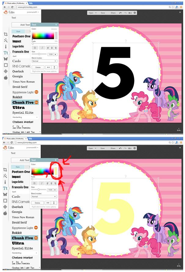 DIY My Little Pony Invite