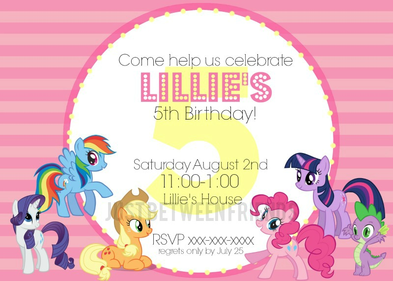 My Little Pony Invitation 4