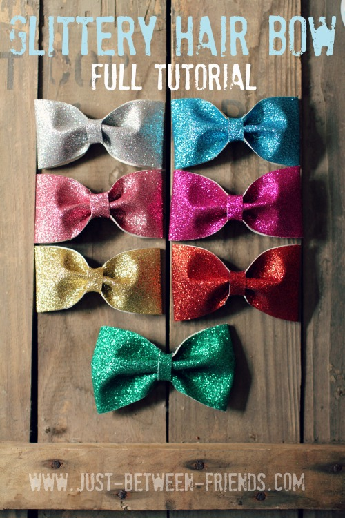 Glittery hairbow tutorial
