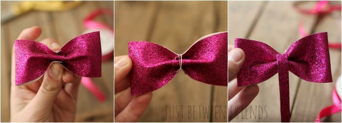 glitter bow tutorial