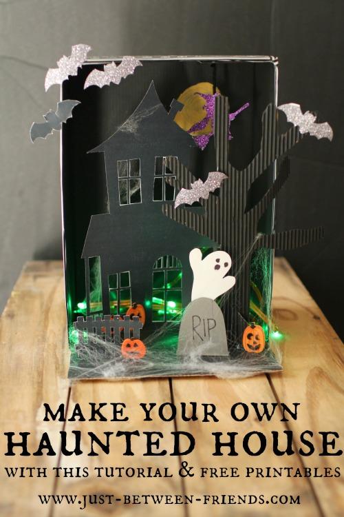 haunted house tutorial free printable just jonie. Black Bedroom Furniture Sets. Home Design Ideas